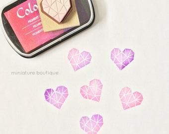 Heart Stamp - Diamond Heart Stamp - Valentines Day Stamp - Heart Shape - Wedding Stamp - Hand carved Stamp - rubber stamp - Scrapbook Stamp