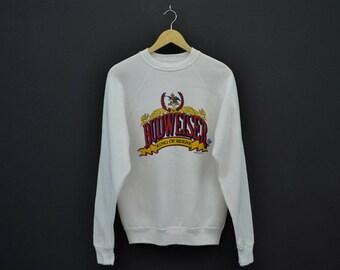 Budweiser Vintage Sweatshirt Vintage Budweiser Crewneck 80s Anheuser Busch Inc Size S