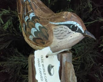 Carolina Wren Wood Carving