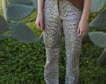 Genuine Python One of a Kind Straight Leg Pants