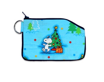 Peanuts Snoopy Charlie Brown Christmas Small Wallet Zipper Wallet Coin Pouch Purse Accessory Small Wallet Card Holder Coin Purse Bag ID
