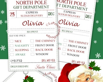 Card from elf names etsy editable santa gift tags printable naughty or nice north pole delivery edit text name check negle Choice Image