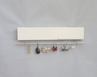 Earring Wall Holder, 12 in., or  16 in., Earring Organizer, Dangle Earring Storage, Bracelet Holder, Jewelry Organizer,  Many Colors