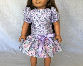 18 inch doll dress - doll clothes for 18 inch dolls - summer doll dress - fits the American Girl, My Lie As and other 18 inch dolls.