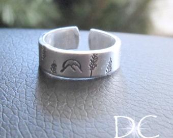 Hiking Gifts for Women Gift, Mountain Wedding Gift, Mountain Ring Sterling Silver Jewelry, Mountain Range Ring