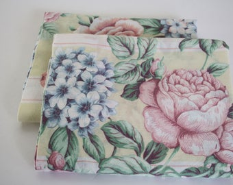 BEAUTIFUL Vintage Pillowcases, Shabby Chic decor, cottage charm,bedding,pillow covers set, 2, pair, roses, vintage bedding, standard size