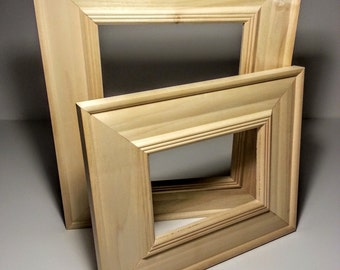 Wide Unfinished Wood Picture Frame, Raw Photo Frame, Frame Kit, Picture Frame Unfinished 3x5,5x7,8x10,9x9,12x12,12x14,16x20,17x20,20x24