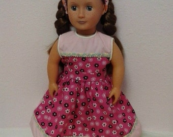 "18"" Doll Dress made with See & Sew pattern B5553"