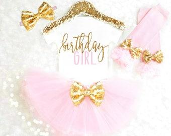 Birthday Girl Shirt Pink and Gold Birthday Girl Outfit 2nd birthday outfit, 3rd birthday, 4th birthday, 5th birthday 6th birthday outfit 41