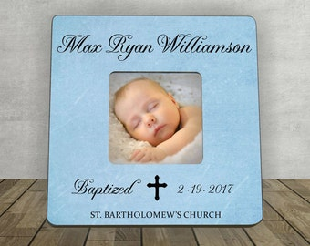 Baptism Gift for Boy, Personalized Picture Frame, Baptism Christening, Baby Gift, Personalized Baptism Gift, Baptism Christening Photo Frame
