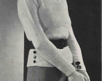 Patron de pull en tricot des années 30