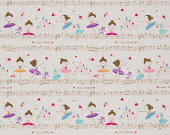 Kokka Trefle Japanese fabric | ballerina fabric | Trefle - 1/2 YD