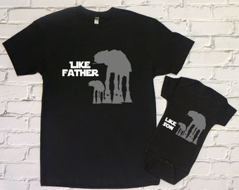 Fathers Day Gift / Star Wars Like Father Like Son Onesie Shirt Set / Star Wars Fathers Day Gift / Star Wars Clothing / Baby Shower Gift
