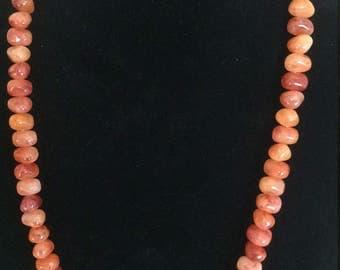 Orange Lucite Necklace, Chunky Orange Necklace, Faux Carnelian Necklace, Orange bead Necklace, Chunky Orange Necklace, Faux Stone Necklace