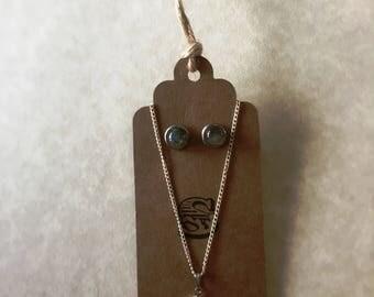 Labradorite Necklace & Earring Set