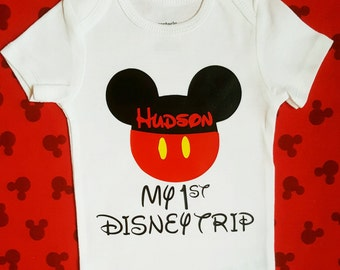 Disney Family Shirts | Mickey Mouse First Disney Trip Outfit boy toddler Disney shirts Mickey 1st Disney visit shirt boy Disney baby outfit