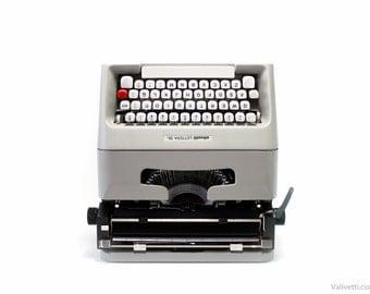 QWERTY - Typewriter Gray Olivetti Lettera 35 -  vintage typewriter - portable typewriter - working typewriter - manual typewriter - gift