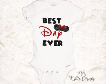 Disney Shirts Best Day Ever Disney Onesie Disney Toddler Shirt Disney Girl Shirt baby girl clothes minnie mouse shirt disney outfit