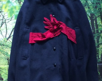 Cape Pellerine /Wool/ Navy Blue/ Made in Austria