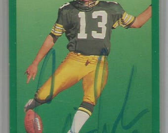 Set of 9 Autographed Football Trading Card