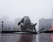 City In Fog - Detroit