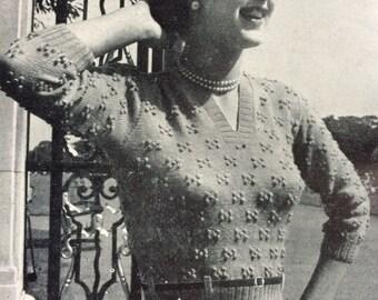 Vintage knitting crochet patterns magazine Needlewoman and Needlecraft No49 1952