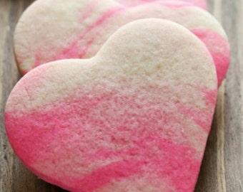 Vegan Valentine cookies. Great gift idea!