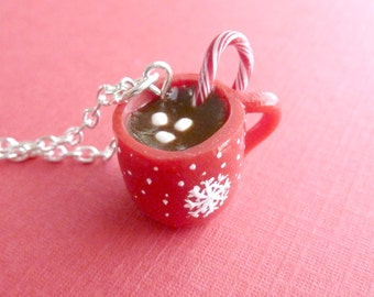 Coffee Cup Hot Chocolate Miniature Food Christmas Gifts Polymer Clay Hot Chocolate