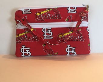 READY TO SHIP!!! Stl Cardinals cell phone pouch/ wristlet/ wallet