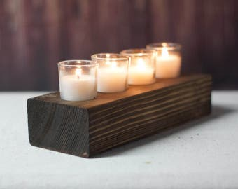Reclaimed Wood Candle Holder, Rustic Tea light Holder, Primitive Decor, Rustic Decor, Wooden Tealight Holder, Rustic Home Decor