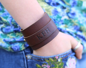The Dock Fine Leather Cuff Bracelet - Graduation Gifts - Gifts for Her