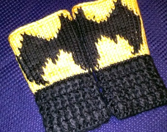Fingerless Gloves Wrist Warmers Batman Child Sizes