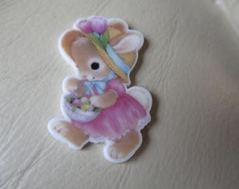 Easter bunny rabbit themed resin needleminder  magnet