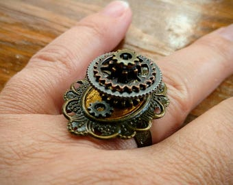 Steampunk Skyscraper Ring