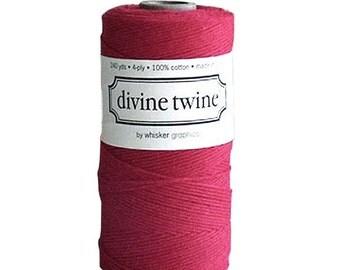 10m Red/ Crimson Divine Twine Packaging Yarn String Bakers Twine