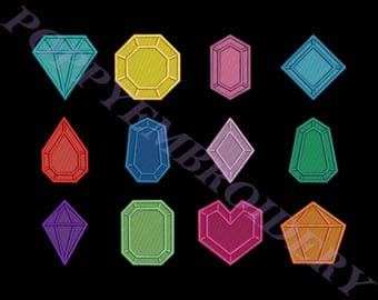 DIAMOND designs for embroidery machine / diamant motifs pour broderie machine / INSTANT DOWNLOAD