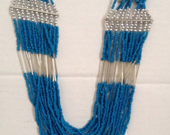Multi beads rows necklace