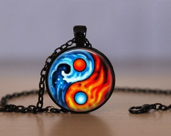 Yin Yang Pendant Necklace Yin And Yang Chinese Philosopy Mens Womens