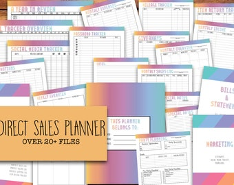 Small Business Planner, Printable Direct Sales Planner | LLR, Lula, Weekly & Monthly Planner, 2017 Calendar | INSTANT DOWNLOAD