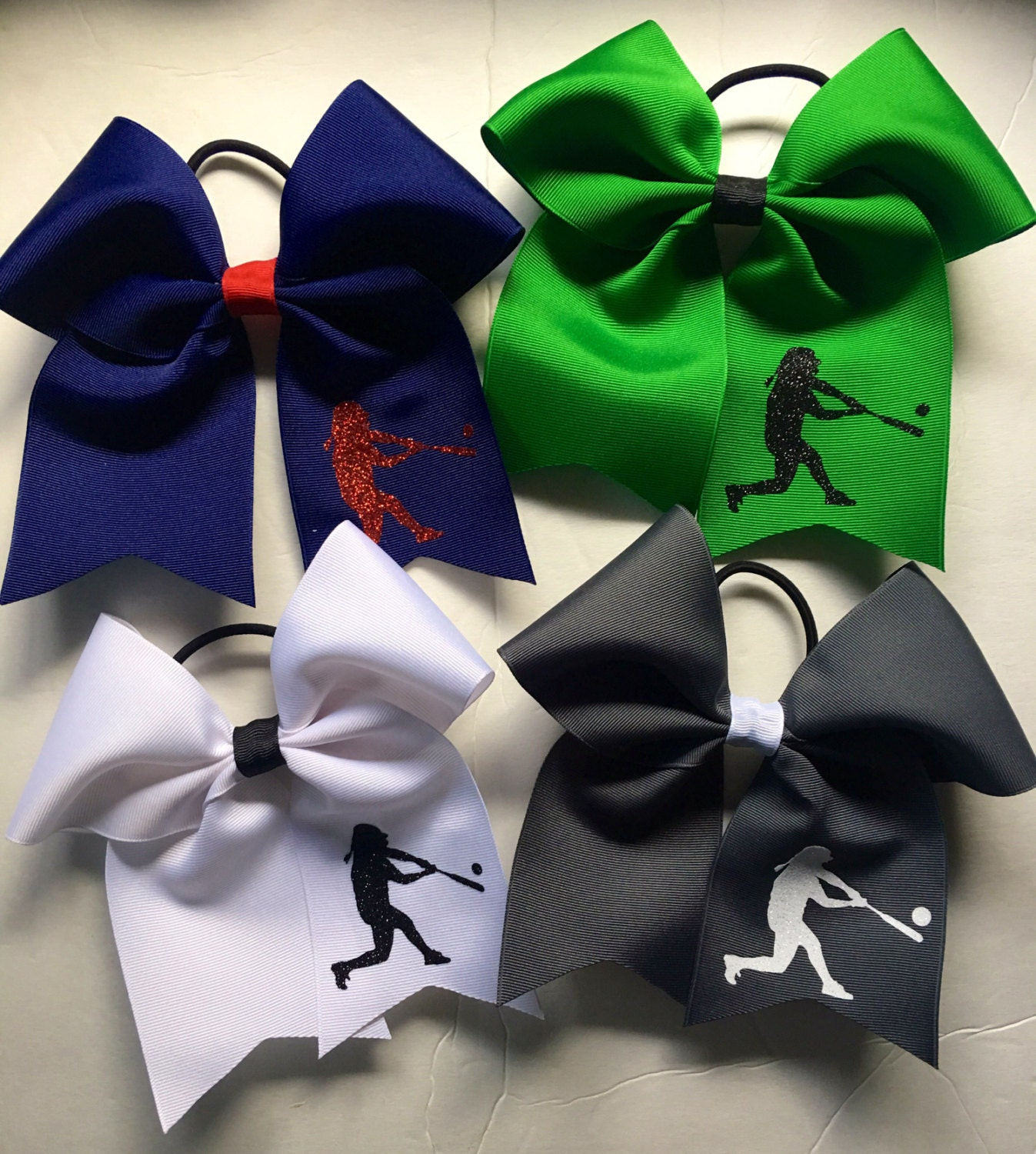 foto de Softball Hair Bows/Personalized Softball Bows/ Personalized