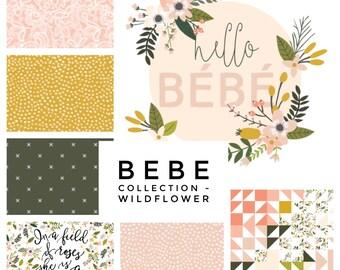 Custom Baby Crib Sheet // Made to Order // Bebe - Wildflower Collection// Hello Bebe // Baby Bedding