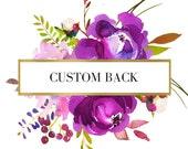 Custom Back to an Invitation