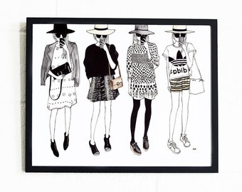 Fashion Wall Decor fashion sketch | etsy