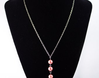 Pink Beaded Necklace - Pink Necklace