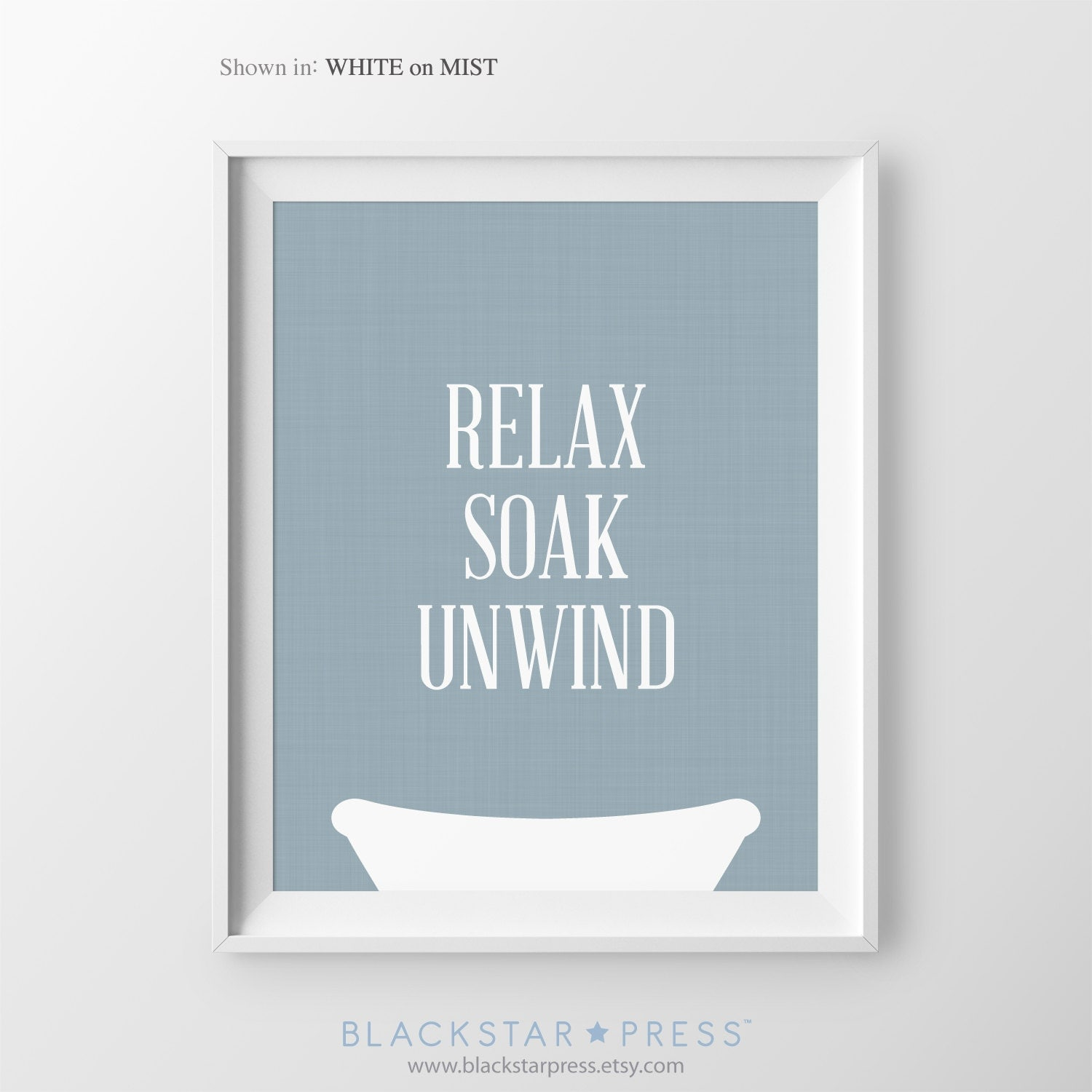 Bathroom wall decor quotes - Relax Soak Unwind Navy Blue Bathroom Decor Powder Room Art Bathroom Wall Art Bathroom Sign Relax Renew Refresh Navy Bathroom Wall Decor