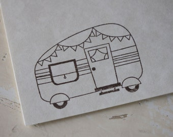 Camping Stationery, Camper Stamp, Letter Writing Set, Stamped Stationery, Camper Gift, Camping Gift, Stationery Set, Writing Paper, Camp