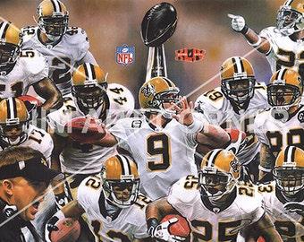 Saints 2010 Super Bowl Team