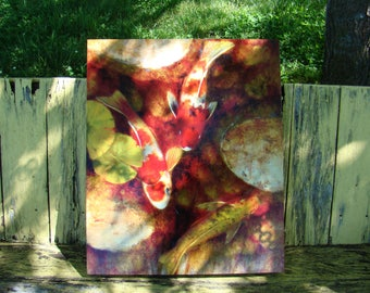 Pond Goldfish Canvas Painting