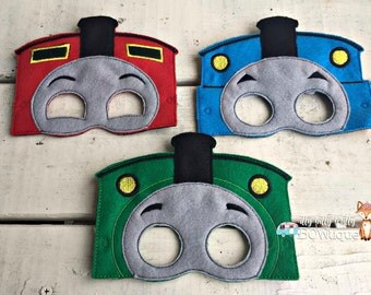Thomas the Train inspired masks.