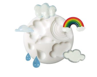 Mould in silicone cloud Creations Fimo